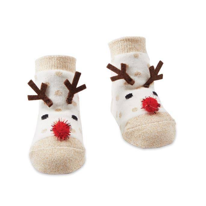 Mudpie Reindeer Glitter Sock