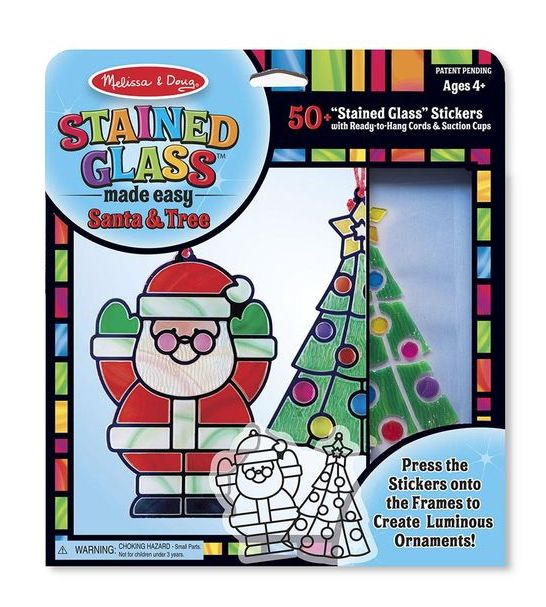 Melissa & Doug Stained Glass Santa Claus