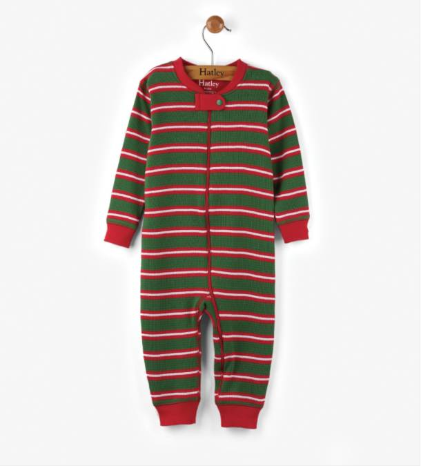Hatley Santa Stripes Mini Coverall