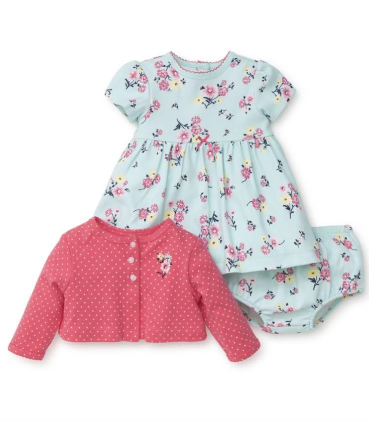 Little Me Floral Dress Set