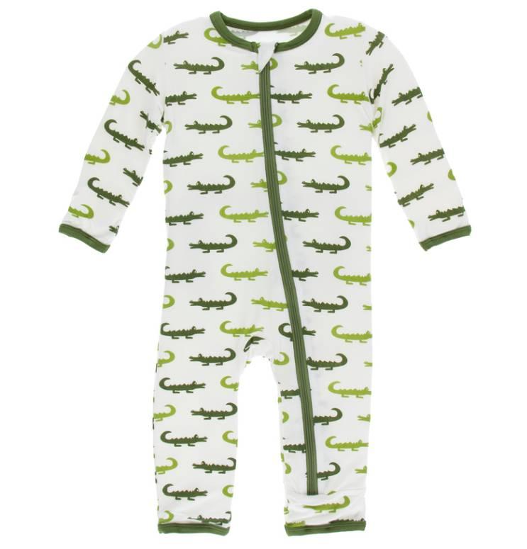Kickee Pants Cover Zip Natural Crocodile