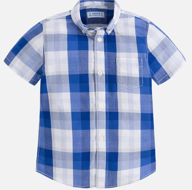 Mayoral Blue Checked Shirt
