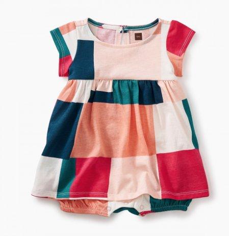 tea collection Patchwork Romper Dress