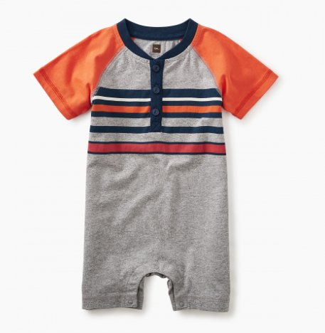tea collection Striped Henley Romper