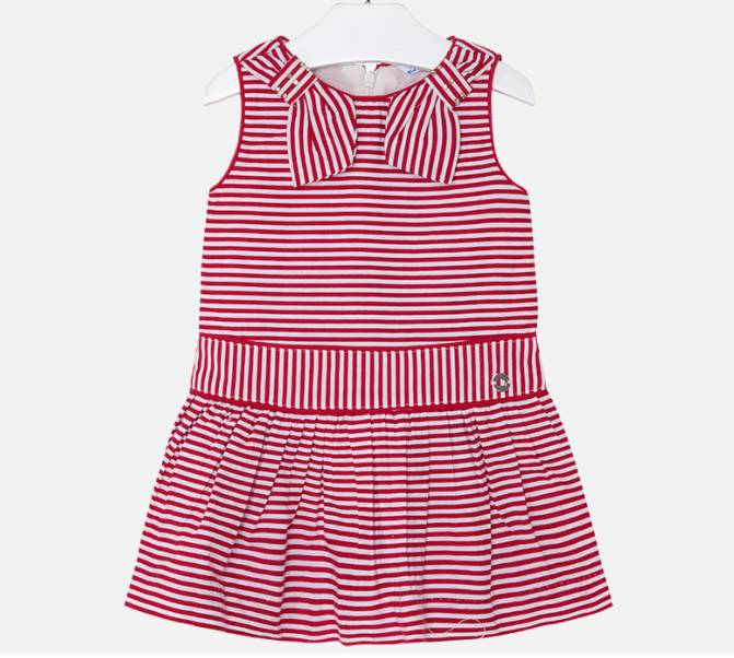 Mayoral Red Striped Dress