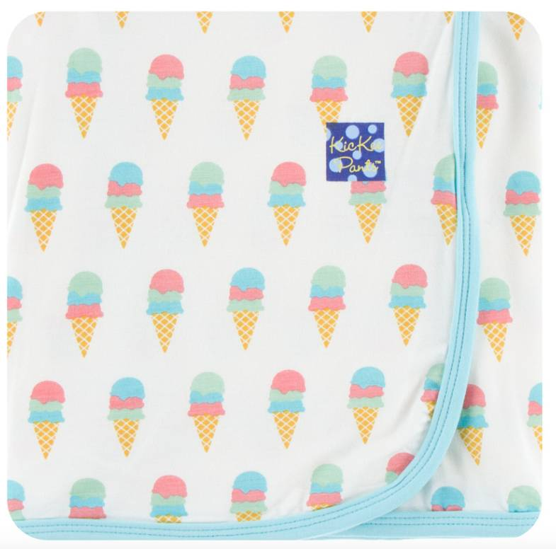 Kickee Pants Natural Ice Cream Swaddle Blanket