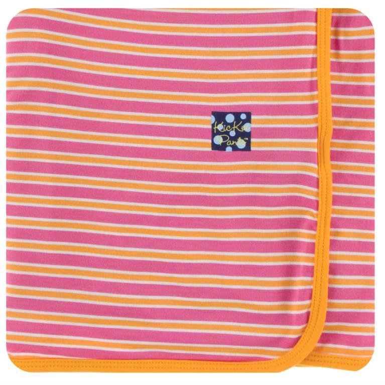 Kickee Pants Flamingo Brazil Stripe Swaddle