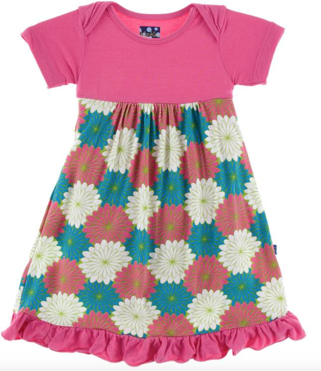 Kickee Pants Tropical Flowers Dress/Romper