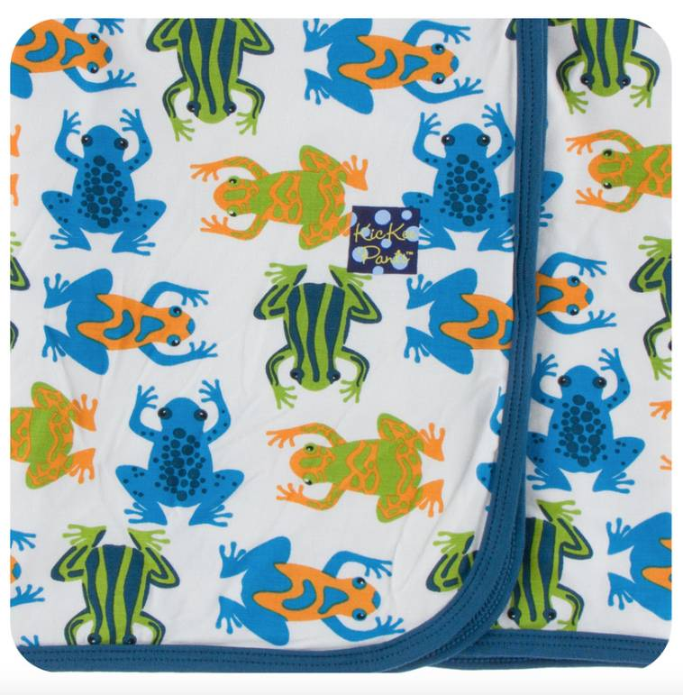 Kickee Pants Amazon Frogs Swaddle Blanket