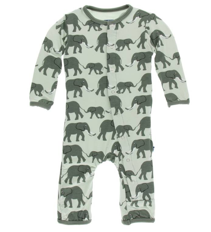 Kickee Pants Aloe Elephants Coverall
