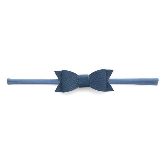 Baby Bling Leather Bow Denim