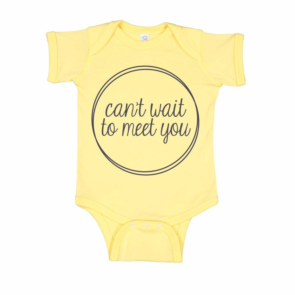 Annie & Olivers + Fat Bear Designs Can't Wait To Meet You Onesie