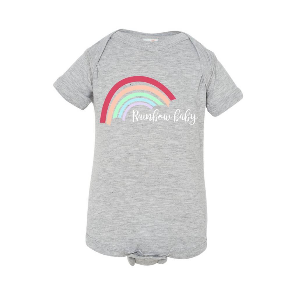 Annie & Olivers + Fat Bear Designs Rainbow Baby Onesie