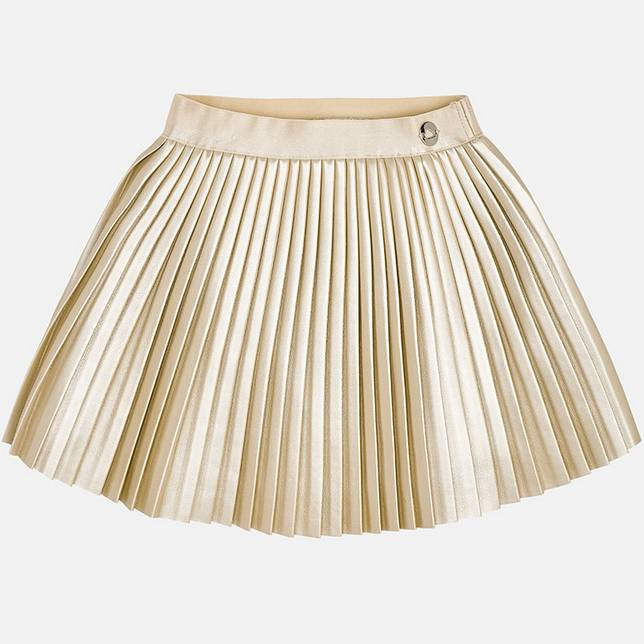 Mayoral Pleated Leather Skirt