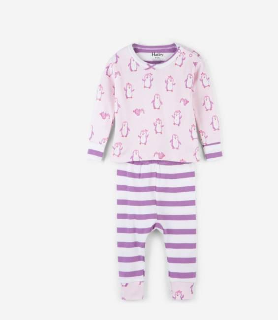 Hatley Penguin Organic Baby Pj Set