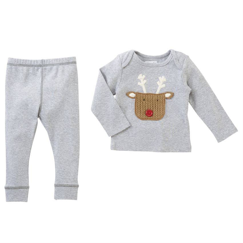 Mud pie Reindeer 2pc Set