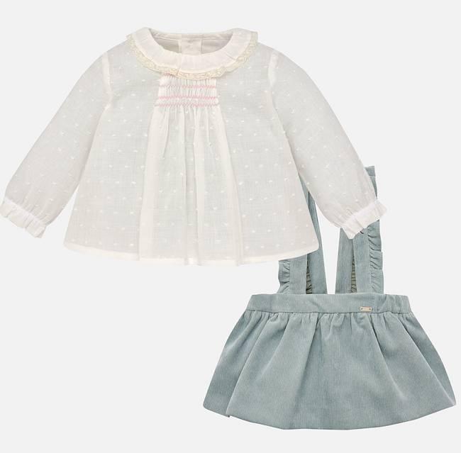 Mayoral Jade Blouse & Skirt Set