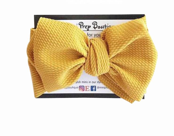 Mini Prep Boutique Mustard Bow