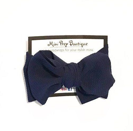 Mini Prep Boutique Navy Bow