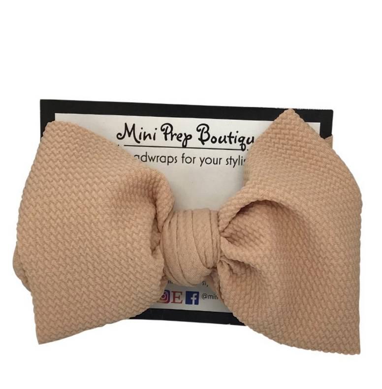 Mini Prep Boutique Nude Bow
