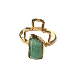 AOKO SU Emerald Rising Ring - Size 6