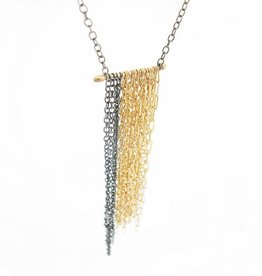 WHITE/SPACE Henri Chain Fringe Necklace