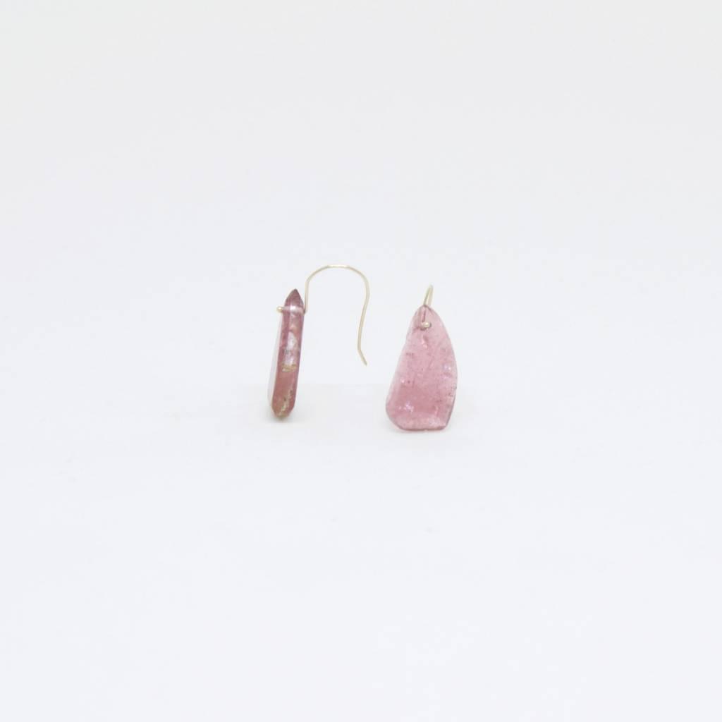 Bruml Design Pink Tourmaline Organic Earring