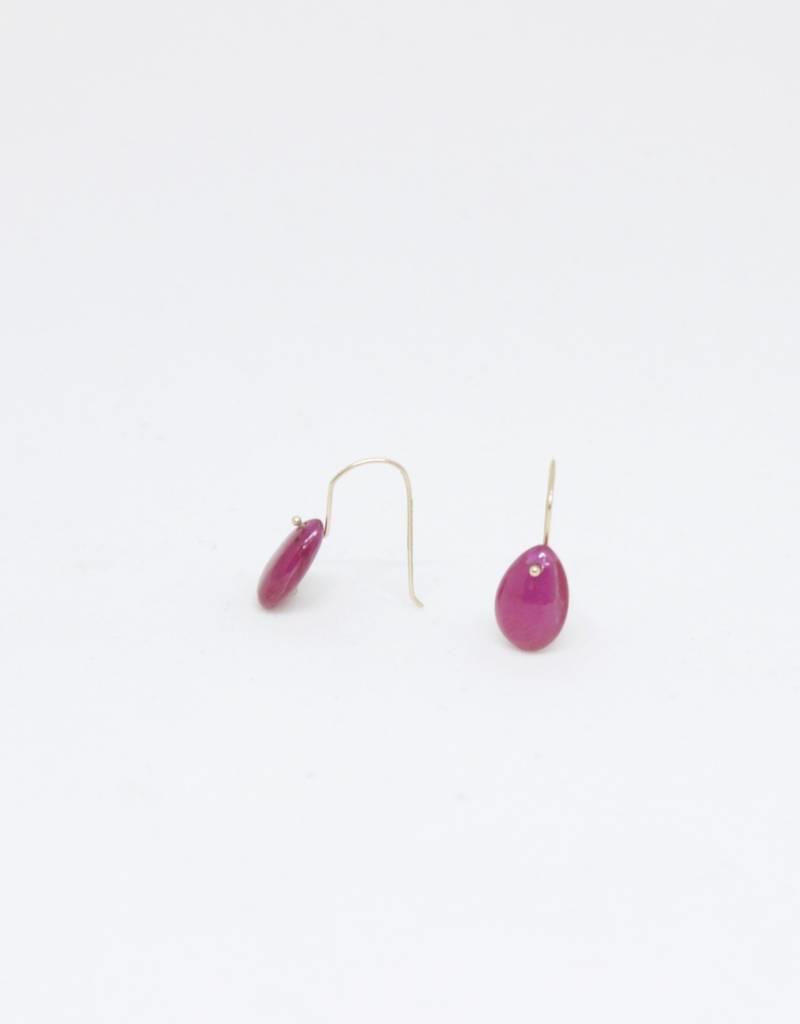 Bruml Design Ruby Round Flat Facet Earring