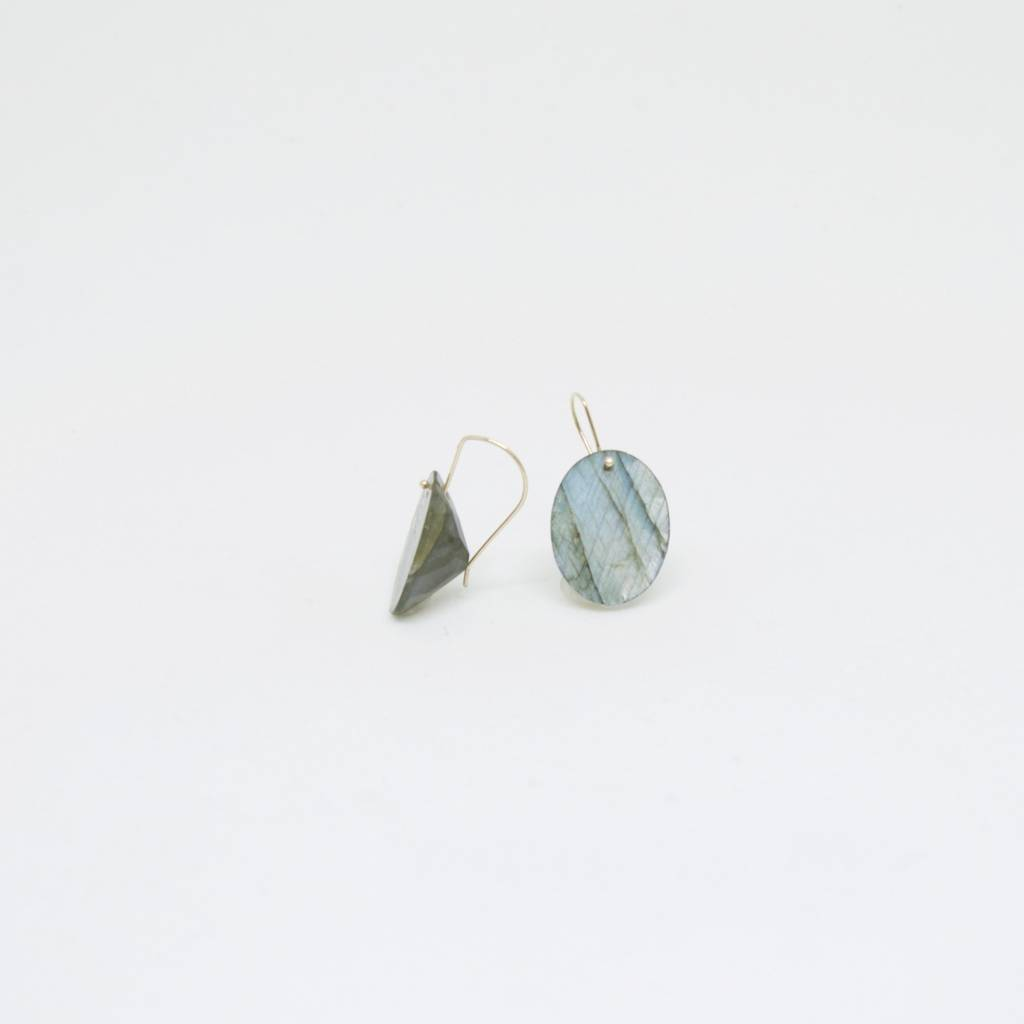 Bruml Design Labradorite Oval Facet Earring