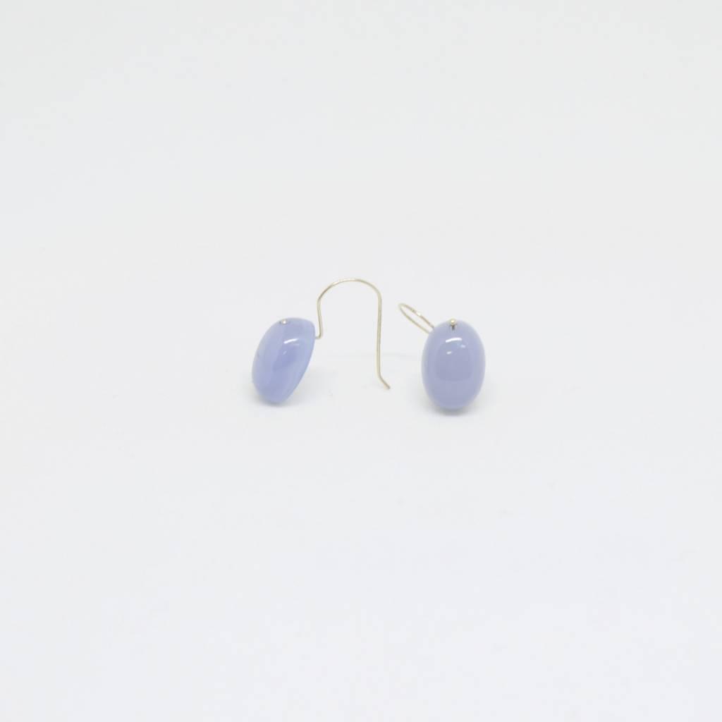 Bruml Design Chalcedony Oval Cabochon Earring