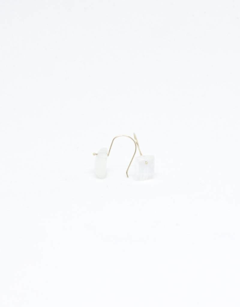 Bruml Design Moonstone Square Earring