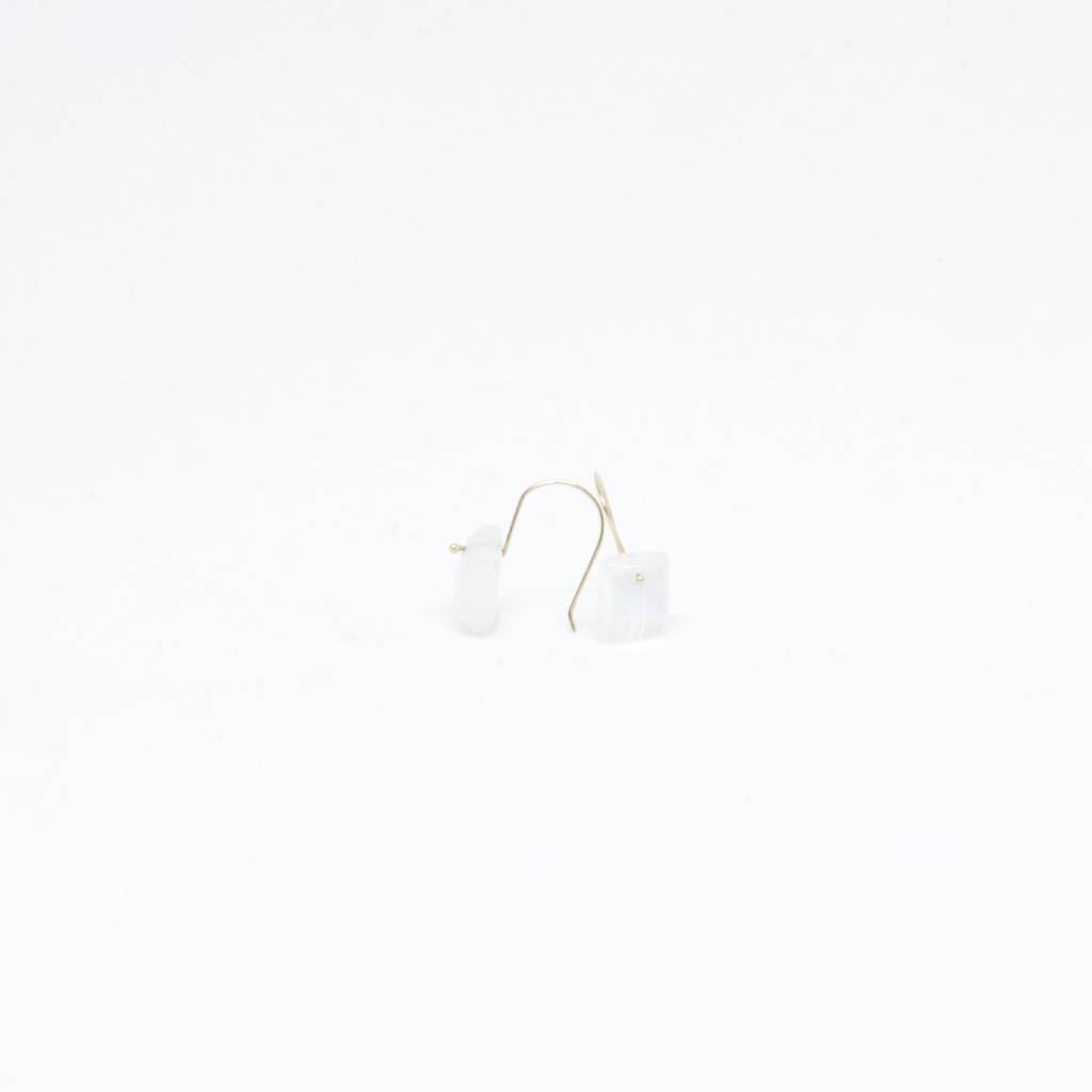 Bruml Design Moonstone Square Earring