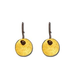 Himatsingka Abstract Gold Oval Hook Earrings