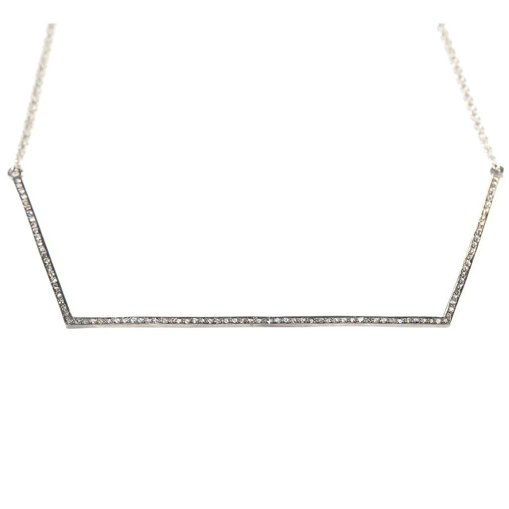 Avindy Geometeric Diamond Linear Necklace