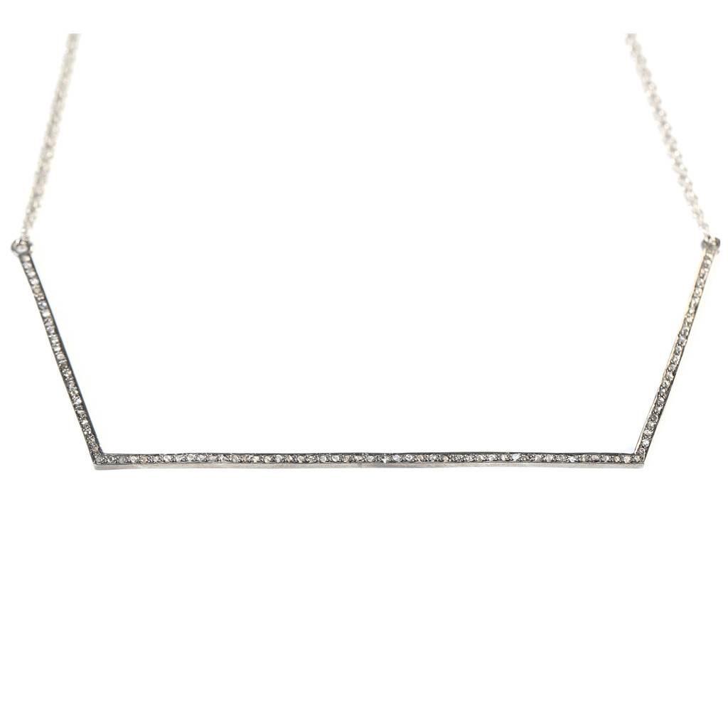 Avindy Geometeric Diamond Linear Necklace
