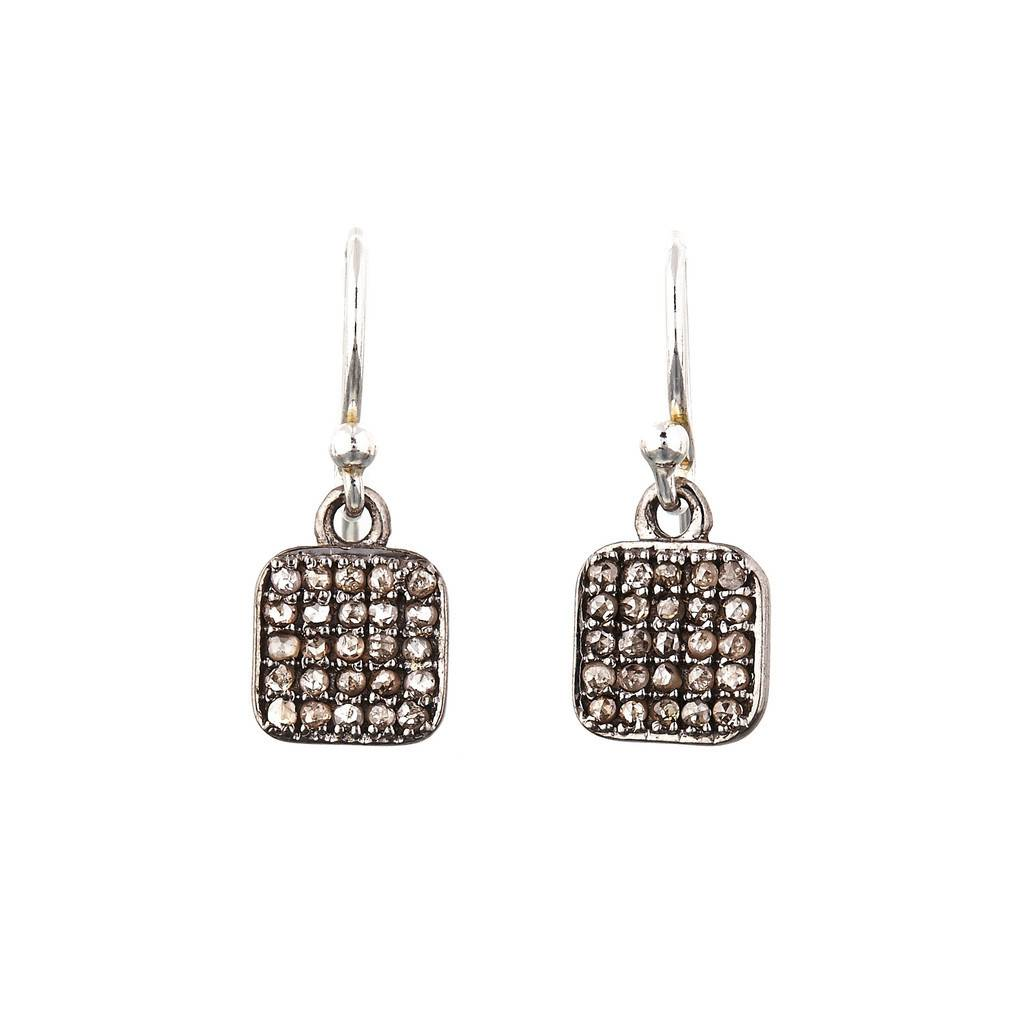 Avindy Pave Diamond Square Earrings