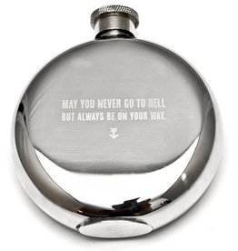 "IZOLA ""May You Never"" - 5 oz. Flask"