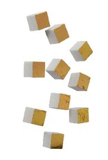 Gold Leaf Wall Play Cube - Gold