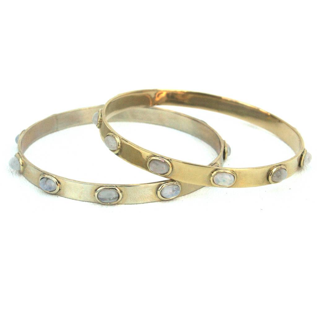 Addison Weeks Graham Bangle - Moonstone