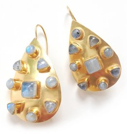 Addison Weeks Riddick Small Gold Earring - Moonstone