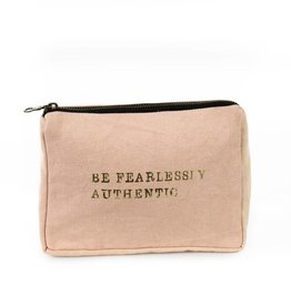 'Fearlessly Authentic' Canvas Pouch