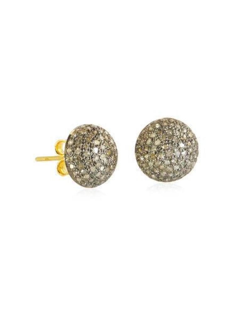 Moomoo Designs Pave Diamond Earrings