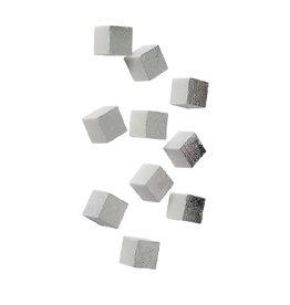 Gold Leaf Wall Play Cube - Silver Leaf