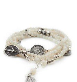 Shereen de Rousseau Moonstone Wrap Bracelet