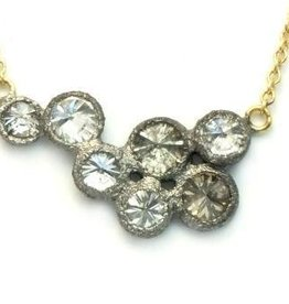 TAP by Todd Pownell Bezel Necklace with 7 Diamonds
