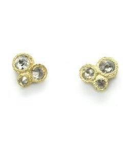 TAP by Todd Pownell 3 Diamonds Earrings