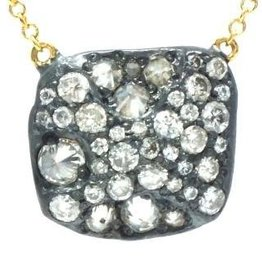 TAP by Todd Pownell Square Pendant with Diamonds