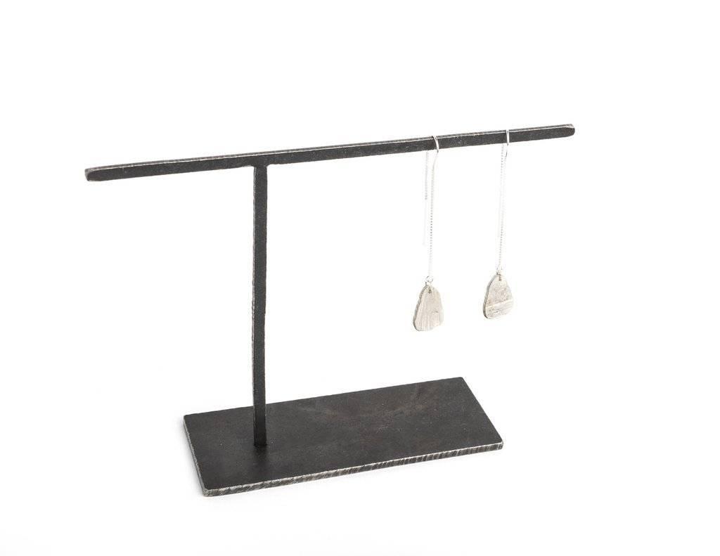 Chikahisa Studio Sterling Silver Teardrop Threader Earrings
