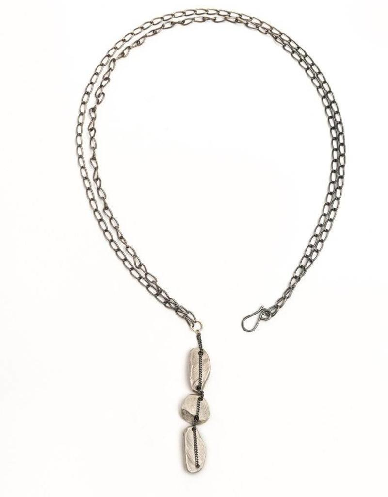 Chikahisa Studio Sterling Silver Woven Y Necklace