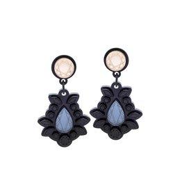 Finn Sofia Earrings - Gold and Black